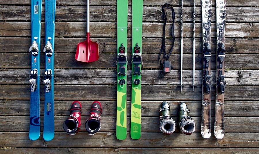 Skis and ski boots